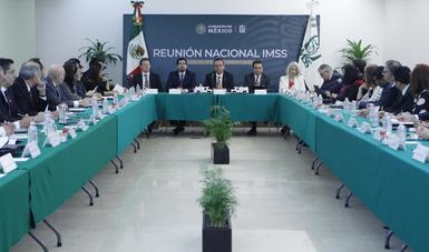 Director General del IMSS, Germán Martínez, encabeza reunión con delegados del Instituto, en oficinas de la Ciudad de México.