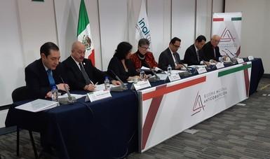 En la Primera Sesión Ordinaria del Comité Coordinador del Sistema Nacional Anticorrupción 2019.