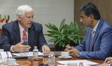 El titular de la SADER, Víctor Villalobos, y el embajador Mohammed Alkawari acordaron la preparación de un memorándum de entendimiento para la cooperación e intercambio comercial entre ambas naciones.