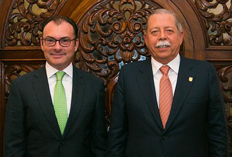 El Secretario Luis Videgaray y el Gobernador Egidio Torre Cantú sostuvieron una reunión de trabajo