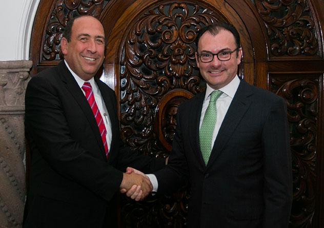 Sostienen reunión de trabajo el Secretario de Hacienda y el Gobernador de Coahuila