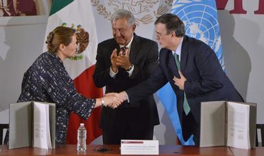 Firma del Acuerdo Marco entre el Gobierno de México y la la Oficina de las Naciones Unidas de Servicios para Proyectos (UNOPS)