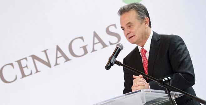 Licenciado Pedro Joaquín Coldwell, Secretario de Energía, durante el aniversario del Cenagas