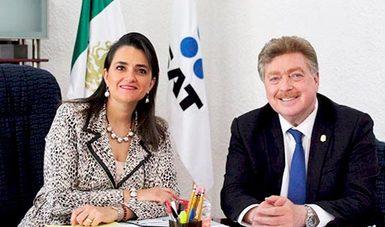 Se reúne Gobernador Francisco Vega con Margarita Ríos Farjat, Titular del SAT