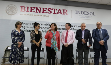 Funcionarios del Indesol, la STPS, la Junta de Asistencia Privada de la Ciudad de México, así como de CEMEFI, invitaron a las OSC a registrarse en el Programa Jóvenes Construyendo el Futuro