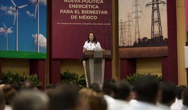 Foro Nueva Política Energética para el Bienestar de México en Campeche.