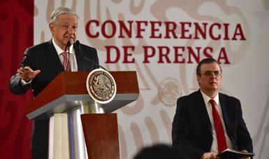 Presidente Andrés Manuel López Obrador y secretario de Relaciones Exteriores, Marcelo Ebrard