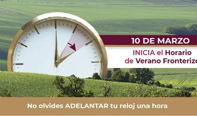 Horario de Verano franja fronteriza norte.