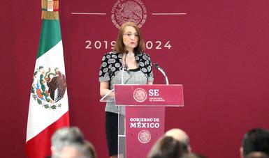 Participación de la Subsecretaria de Comercio Exterior, Luz María de la Mora, en inauguración de las mesas sectoriales de Economía