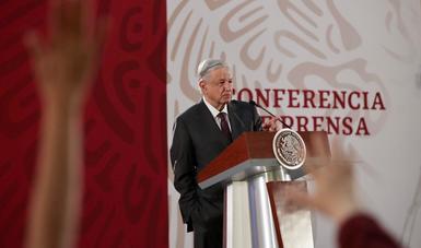 El presidente de México, Andrés Manuel López Obrador, en Palacio Nacional