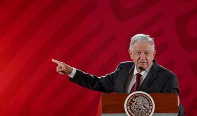Conferencia de prensa encabezada por el presidente de México, Andrés Manuel López Obrado