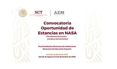 Este viernes cierre de la Convocatoria para Estancias de Investigación en NASA