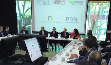 Durante la reunión de trabajo entre la SESNA y la Comisión Permanente de Contralores Estados-Federación