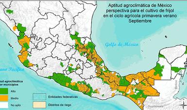 Aptitud agroclimática de México - frijol