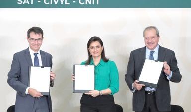 Firma de Acuerdo de Colaboración SAT - CIVYL - CNIT