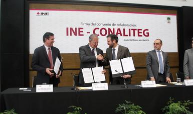 Convenio de colaboración con el Instituto Nacional Electoral