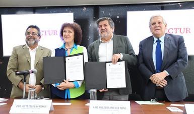 Convenio firmado entre FONATUR y FCCyC