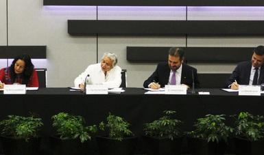 firma de Convenio de Colaboración con el Instituto Nacional Electoral (INE) y la Secretaría de la Función Pública