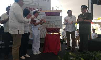 Inauguración de la Estación Naval de Búsqueda, Rescate y Vigilancia Marítima (ENSAR) de Dos Bocas, Tabasco.