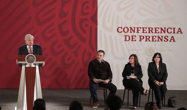 El presidente de México, Andrés Manuel López Obrador, en la conferencia matutina de este lunes en Palacio Nacional.