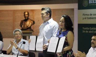 Firma convenio de colaboración Sembrando Vida en Chiapas