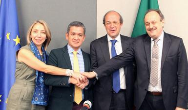 El Diálogo se desarrollóen las oficinas de la Semarnat, en el marco de la Misión de Economía Circular que la Unión Europea llevó a cabo en la CDMX del 24 al 26 de abril de 2019.
