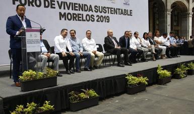 El Vocal Ejecutivo del FOVISSSTE, Agustín Rodríguez López participó en la inauguración del Foro de Vivienda Sustentable, Morelos 2019