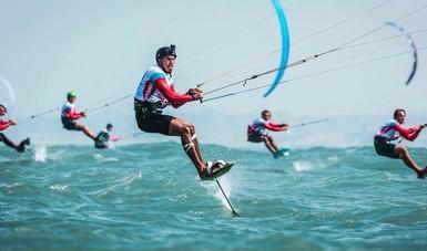 El velerista, especialista en kitesurf, quiere brillar en la justa panamericana, tal como lo hizo en los Centroamericanos de Barranquilla.