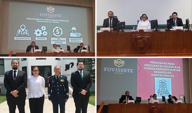 El Vocal Ejecutivo del FOVISSSTE, Agustín Rodríguez López, puntualizó que el objetivo es alcanzar un proyecto nacional de México seguro y rentable