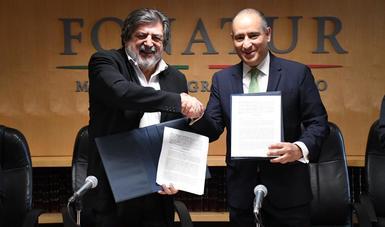 El convenio de colaboración es para realizar actividades que contribuyan al desarrollo del Tren Maya.