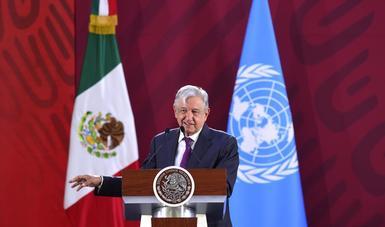 Presidente López Obrador recibe propuesta de Cepal para desarrollo de México y Centroamérica