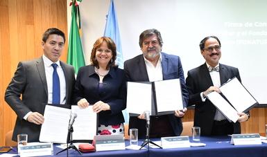 Firma de convenio FONATUR - ONU HÁBITAT