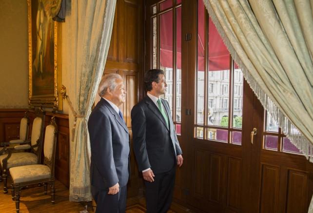Al término de sus conversaciones, y animados por el propósito de fortalecer la buena relación existente entre ambos países, los Jefes de Estado emitieron una declaración conjunta.