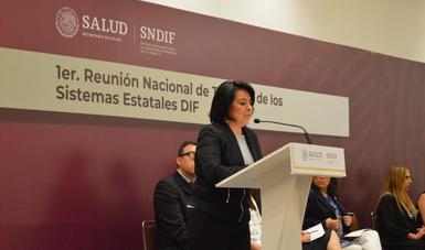 María del Rocío García Pérez, titular del SNDIF.