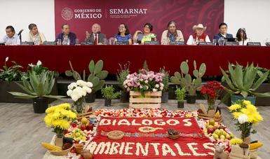El titular de la Semarnat dijo que estos diálogos son un elemento fundamental de la política ambiental de México.