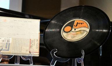 El audio, que se localiza en una cinta de carrete abierto, forma parte de la colección Televisa Radio