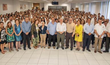 Se reúne el titular de la Sader con el grupo directivo y personal de la Conapesca para fortalecer los programas en materia pesquera y acuícola de México.