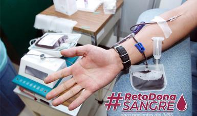 Brazo extendido en proceso de extracción de sangre #RetoDonaSangre.