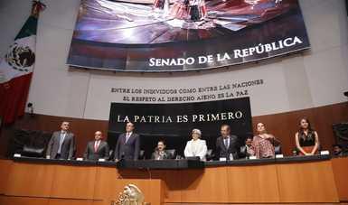 Secretario Ebrard plantea diplomacia de unidad nacional ante el Poder Legislativo