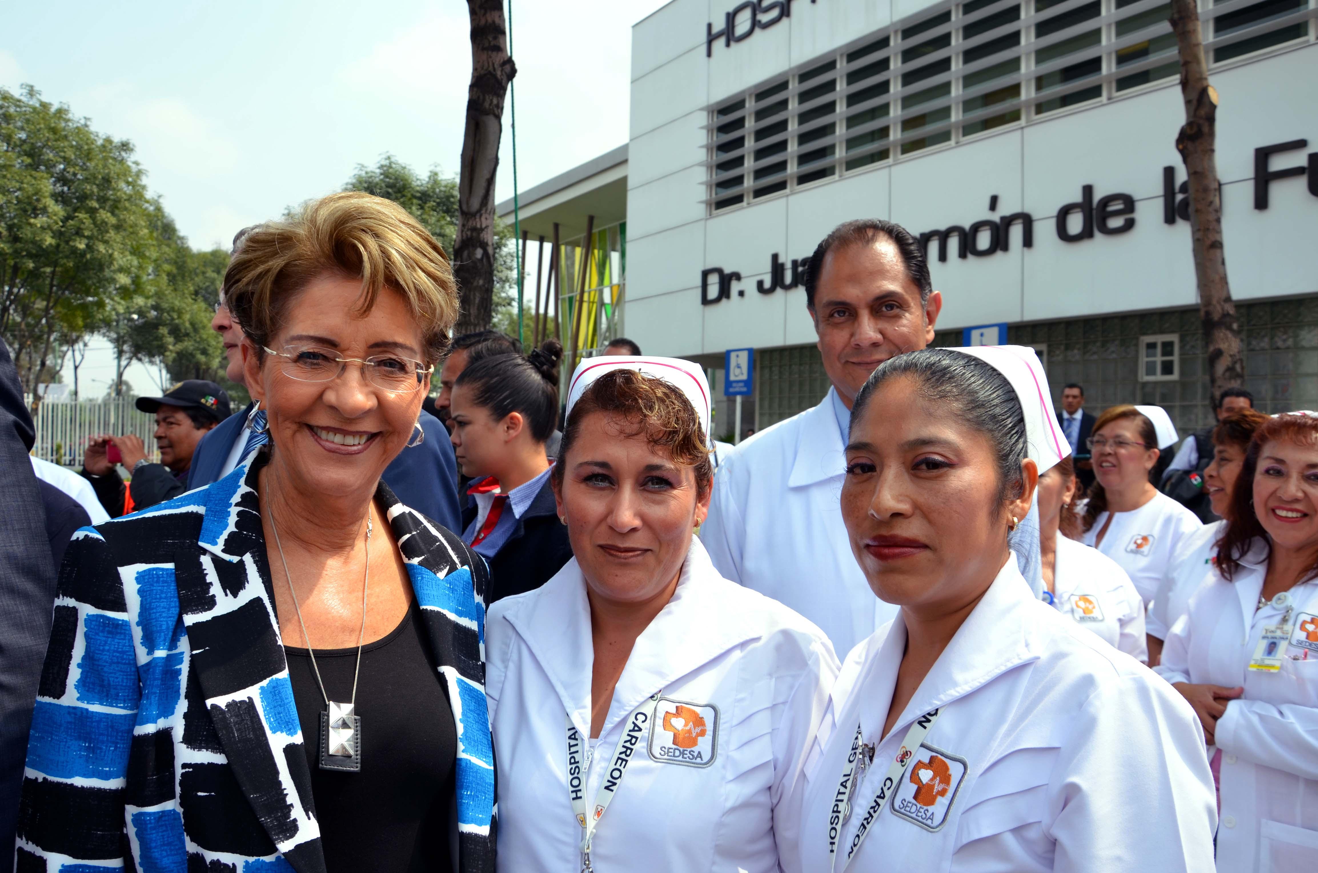 """Inauguración de  la ampliación del Hospital General de Iztapalapa """"Dr. Juan Ramón de la Fuente""""."""