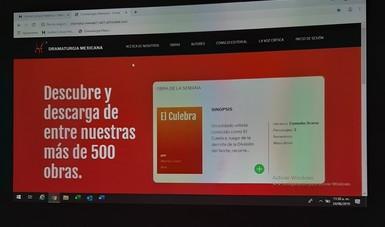 En conferencia de prensa, el Helénico presentó las innovaciones digitales para la plataforma Dramaturgia Mexicana, para su página web, así como nuevas opciones académicas en línea.