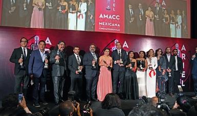 Héctor Bonilla, Paz Alicia Garciadiego y Nerio Barberis recibieron el Ariel de Oro