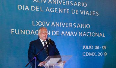 El Secretario Miguel Torruco en el XLIV Aniversario del Día del Agente de viajes.