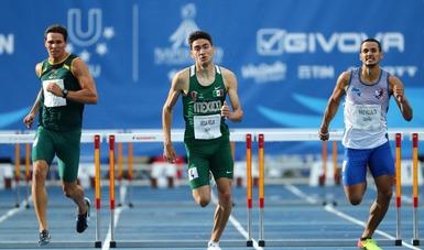 Registró un tiempo de 49.32 segundos, que lo ubicó en el quinto lugar de la final de 400 metros con vallas.