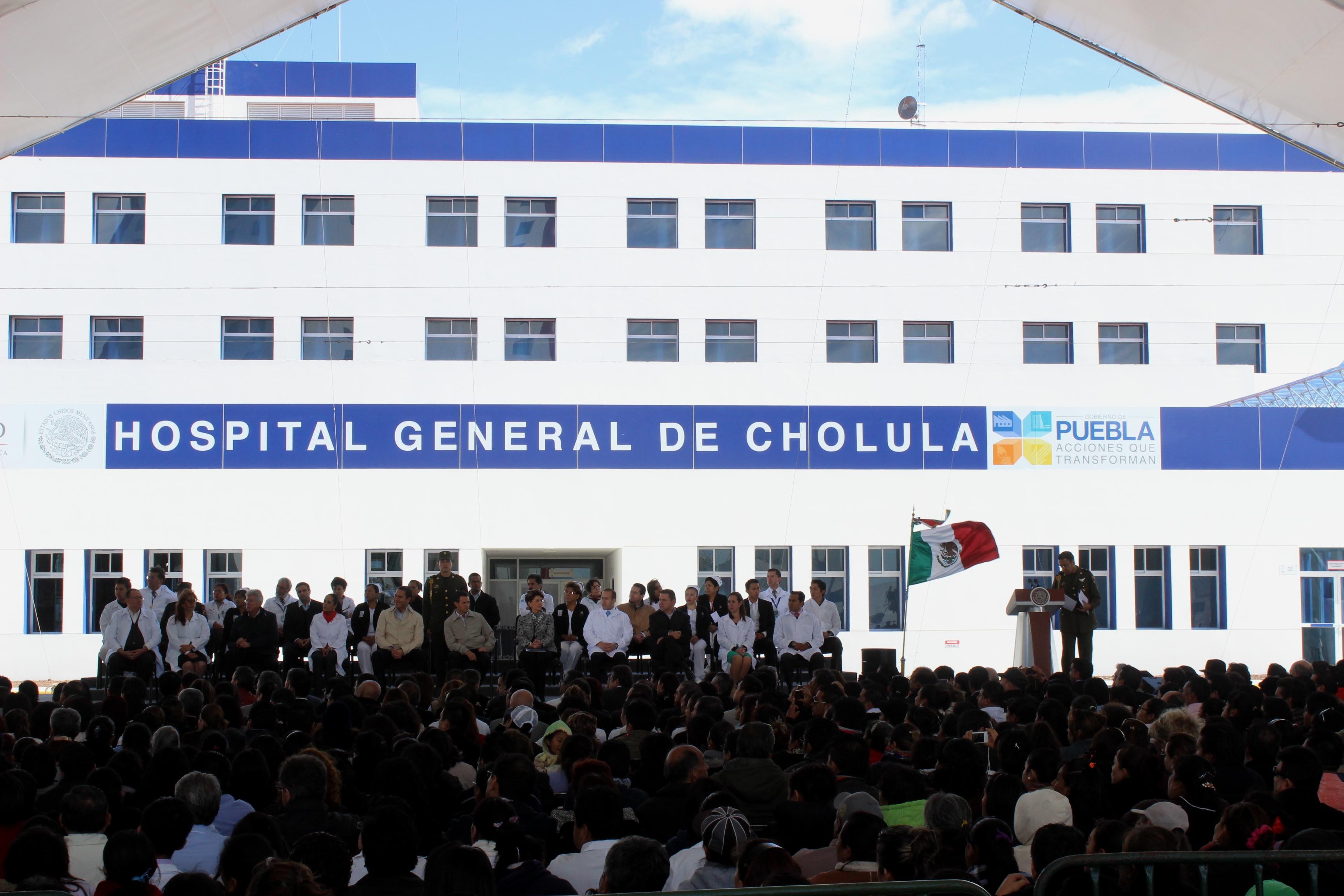 Ceremonia de Inauguración del Hospital de Cholula