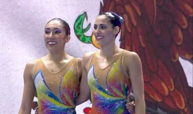 La dupla mexicana superó la ronda preliminar en dueto técnico con 84.5751 puntos.