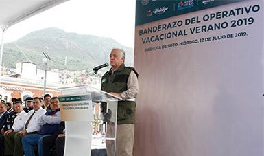 El Secretario de Turismo da el banderazo de inicio de la temporada vacacional 2019 junto al Gobernador Omar Fayad.