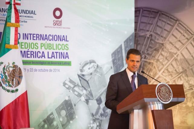 El Presidente Enrique Peña Nieto inauguró el 5º Foro Internacional de Medios Públicos en América Latina.