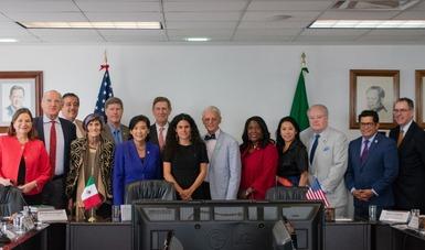 Presenta Secetaria del Trabajo, Luisa María Alcalde, avances de Reforma Laboral a Congresistas estadounidenses
