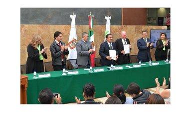 Firma Convenio Agencia Espacial Mexicana con Universidad Mexiquense del Bicentenario
